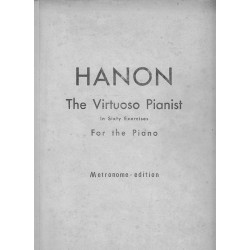 Hanon The Virtuoso Pianist For The Piano