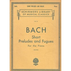 Schirmer's Bach Short Preludes And Fugues