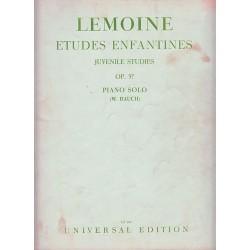 Lemoine Etudes Enfantines Op37 Universal Edition Piano Solo