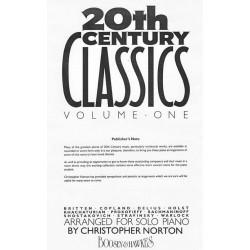 20th Century Classics vol1 arranged for solo piano - Christopher Norton