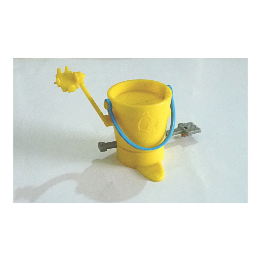 Mop and bucket action figure